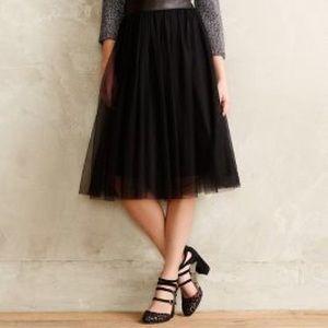 Anthropologie Bailey 44 Tulle Midi Skirt